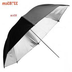 "High Quality 33"" Black Silver Umbrellas Professional Photogr"