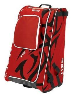 "Grit Inc HTFX Hockey Tower 33"" Wheeled Equipment Bag Red HTF"