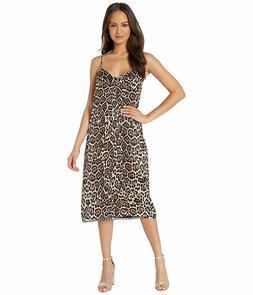 EQUIPMENT Jules Slip Dress in True Black Multi Leopard S $32