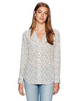 Equipment Women's Keira Blouse, Bright White/Multi, S