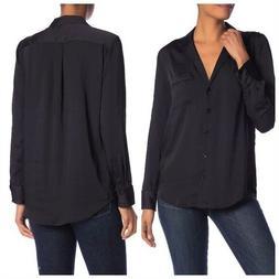 Equipment Keira Long Sleeve Button Shirt  Size M
