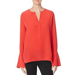 Women's Equipment Kenley Bell Cuff Silk Blouse, Size Large -