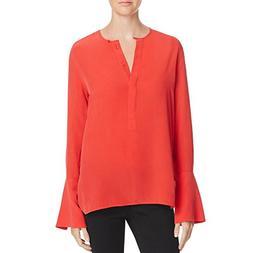 Women's Equipment Kenley Bell Cuff Silk Blouse, Size Large -