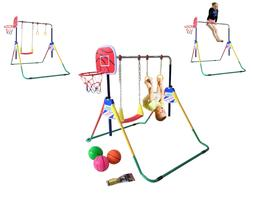 Kids Jungle Gymnastics Adjustable Junior Training Monkey Bar