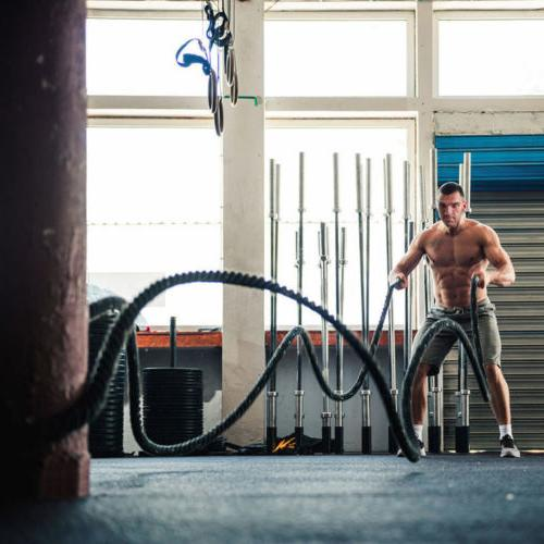 "1.5"" 30/40/50' Heavy Battle Ropes Training Fitness"