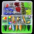 100pcs/set Compartments Fishing Tackle Kit Box Hooks Lure pa