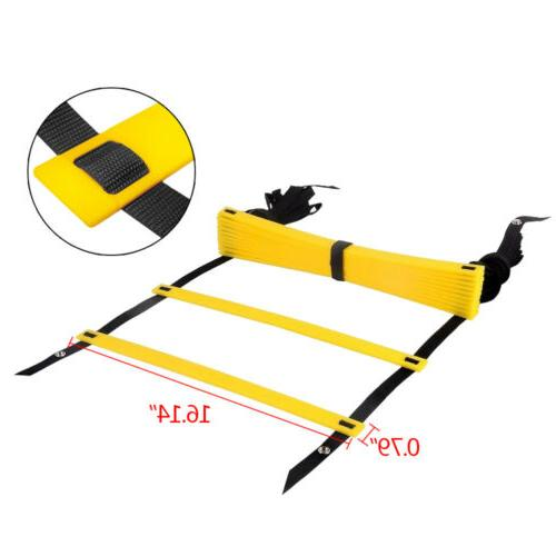 12 Rung Speed Exercise Soccer Football Sports 19FT