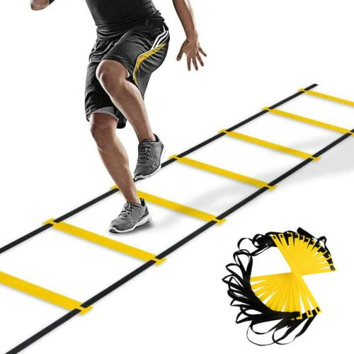 12 rung speed agility exercise ladder soccer