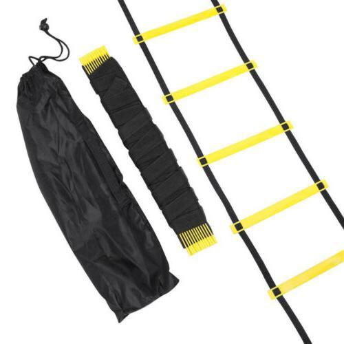 12 Rung Exercise Ladder Soccer Sports Bag 19FT