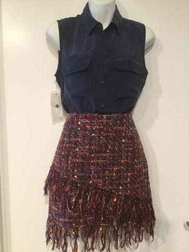 188 nwt slim signature silk sleeveless blouse