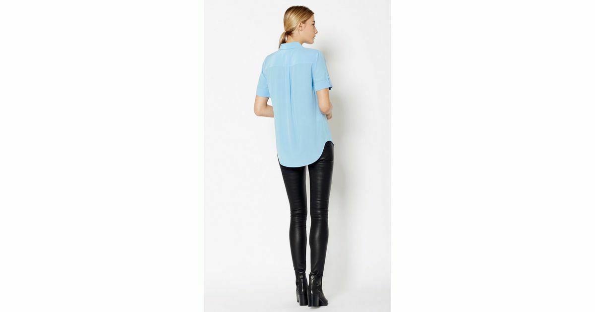 $198 Short Sleeve Slim Signature Blouse S