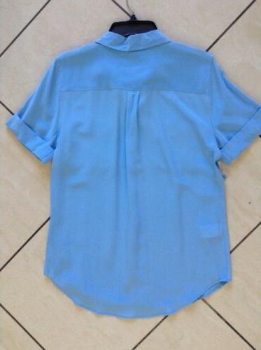 $198 NWT Short Blouse Blue Sz S