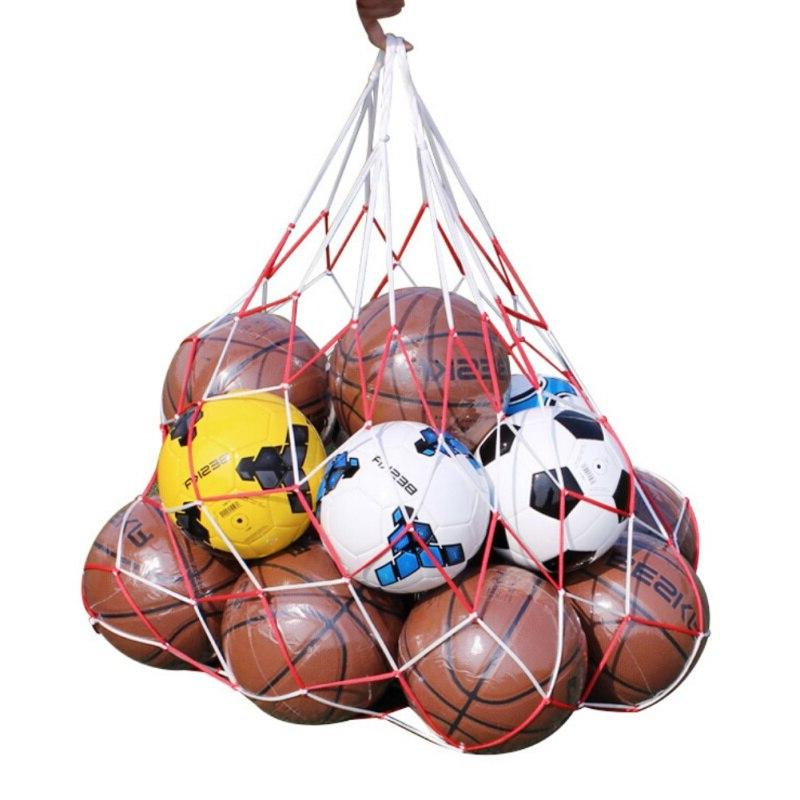 white-red cord basketball sports mesh ball Portable net