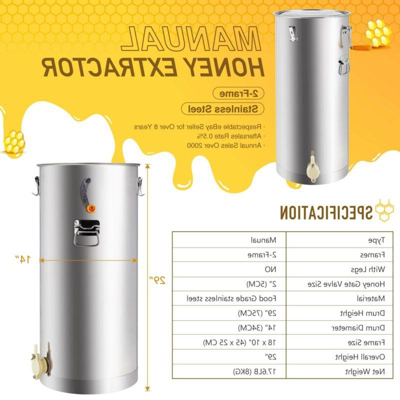 2/4 Frame Extractor Stainless Steel
