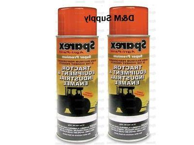 2 Cans Woods Mower Equipment Burnt Orange Super Premium Spra