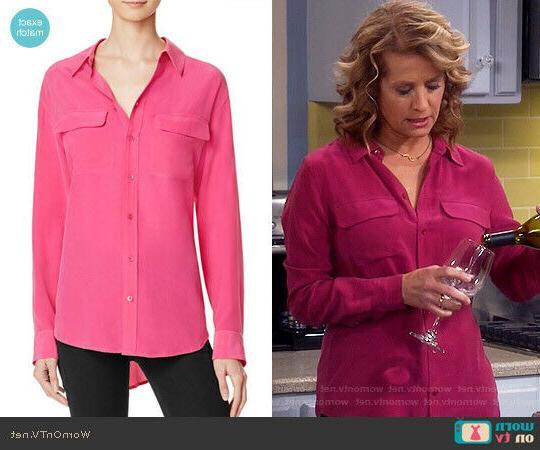 214 nwt slim signature cosmopolitan silk blouse