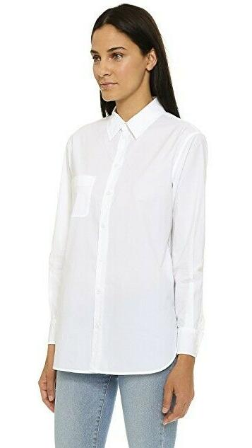$218 Kenton Cotton Blouse Sz S Have White