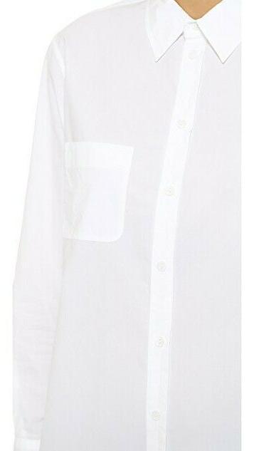 $218 NWT Equipment White Kenton Sz S White Shirt!