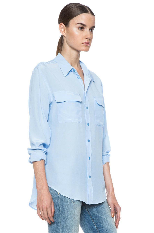 $228 Sleeve Silk Blue Sz