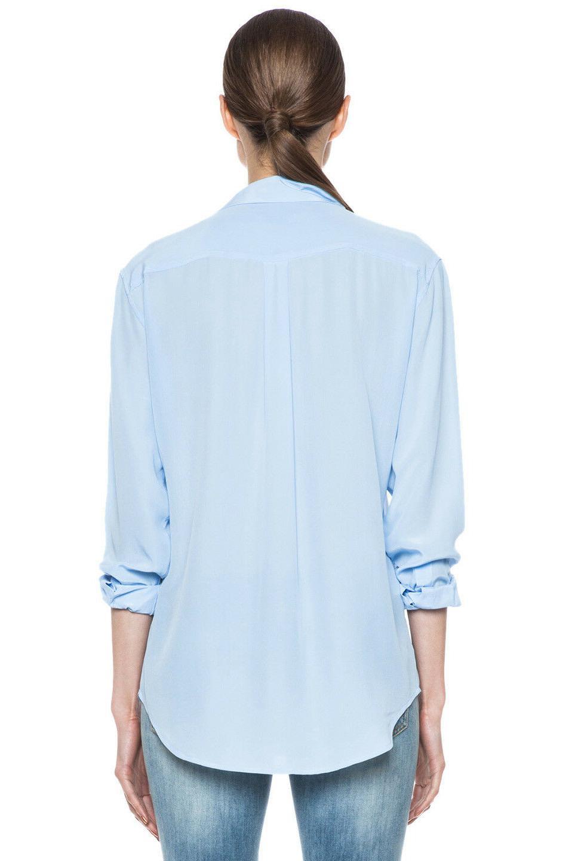 $228 Sleeve Silk Blue