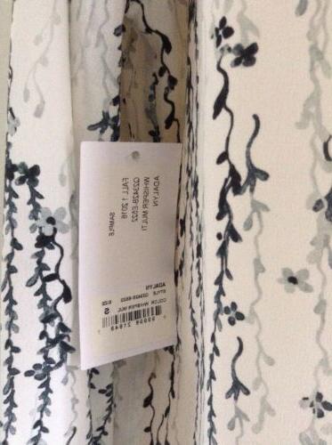 $230 NWOT Equipment Silk Blouse White Black Gray Sz