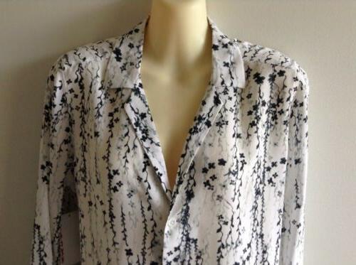 $230 NWOT Adalyn Silk White Black Gray Sz S ~