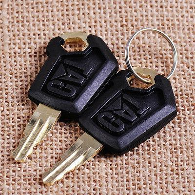 2x Equipment Excavator Ignition Loader Dozer Key fit for Cat