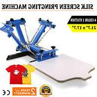 4 Color 1 Station Silk Screen Printing Press Pressing Equipm