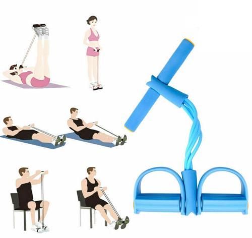 4 tube yoga equipment sit up fitness