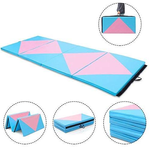 Giantex 4'x10'x2 Mat Thick Folding Gym & Loop Fasteners