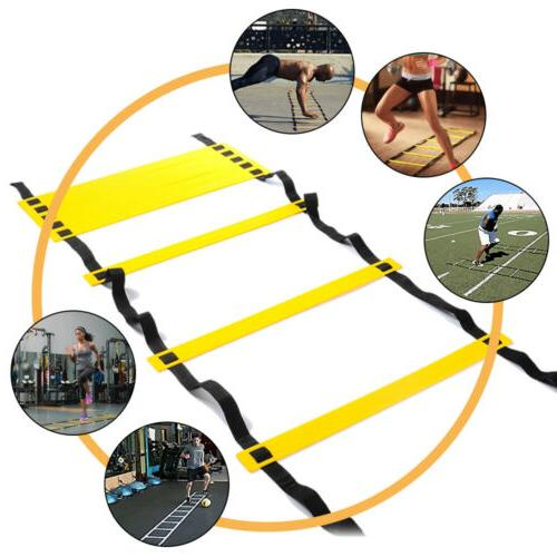 8 Rung Agility Ladder Speed Training Sport Exercise Equipment