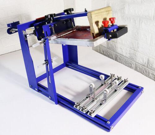 8x10 cylindrical screen printing machine for 6