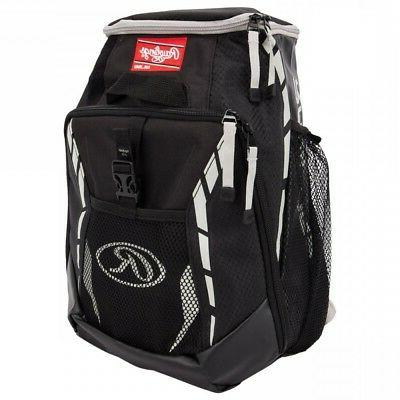BASEBALL BACKPACK EQUIPMENT BAG ~ Rawlings Youth 12U Black 2