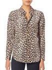 Equipment Kate Moss Leopard Silk Shirt Women's Small
