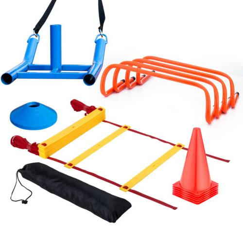 Football Soccer Speed Agility Training Aids Kit Set Sports F