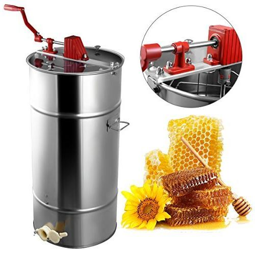 Goplus Large 2 Frame Stainless Steel Honey Extractor Beekeep