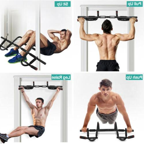 Home Gym Chin Pull Up Bar Doorway Exercise Bar Strength Fitn