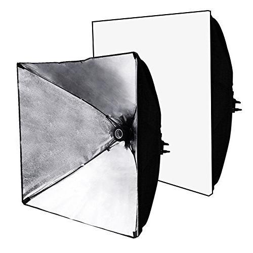 LimoStudio Studio Soft Box Lighting Kit, Inch Reflector Photo Bulb, Photography Studio,