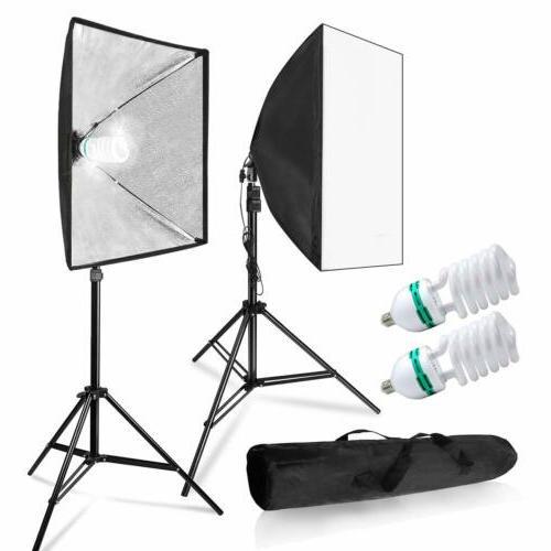 LimoStudio 700W Photo Video Studio Soft Box Lighting Kit, 24