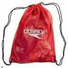 Speedo Unisex Adult Equipment Mesh Bag, Red, 35 Litre - Red
