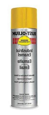 RUST-OLEUM V2148838 Spray Paint,Equipment Yellow,15 oz.