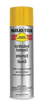 RUST-OLEUM V2148838 Spray Paint,Equipment Yellow,15 oz.