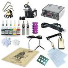 Tattoo Starter Kit 1 Machine Gun Set Equipment Power Supply
