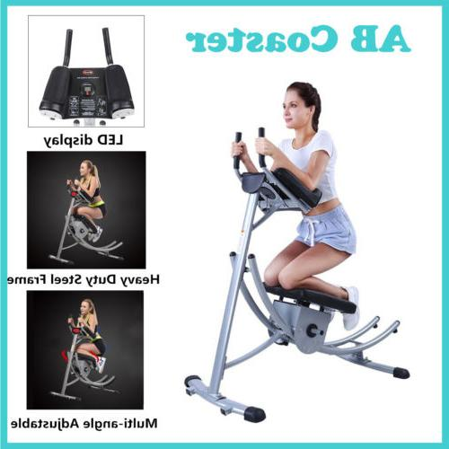 Ab Cruncher Trainer Fitness Machine Gym Exercise Equipment