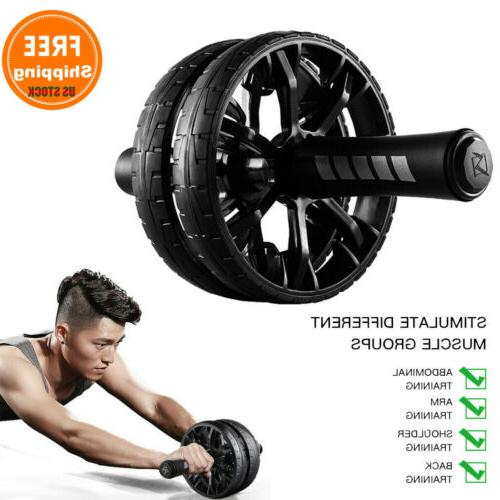 ab roller exercise dual wheel home gym