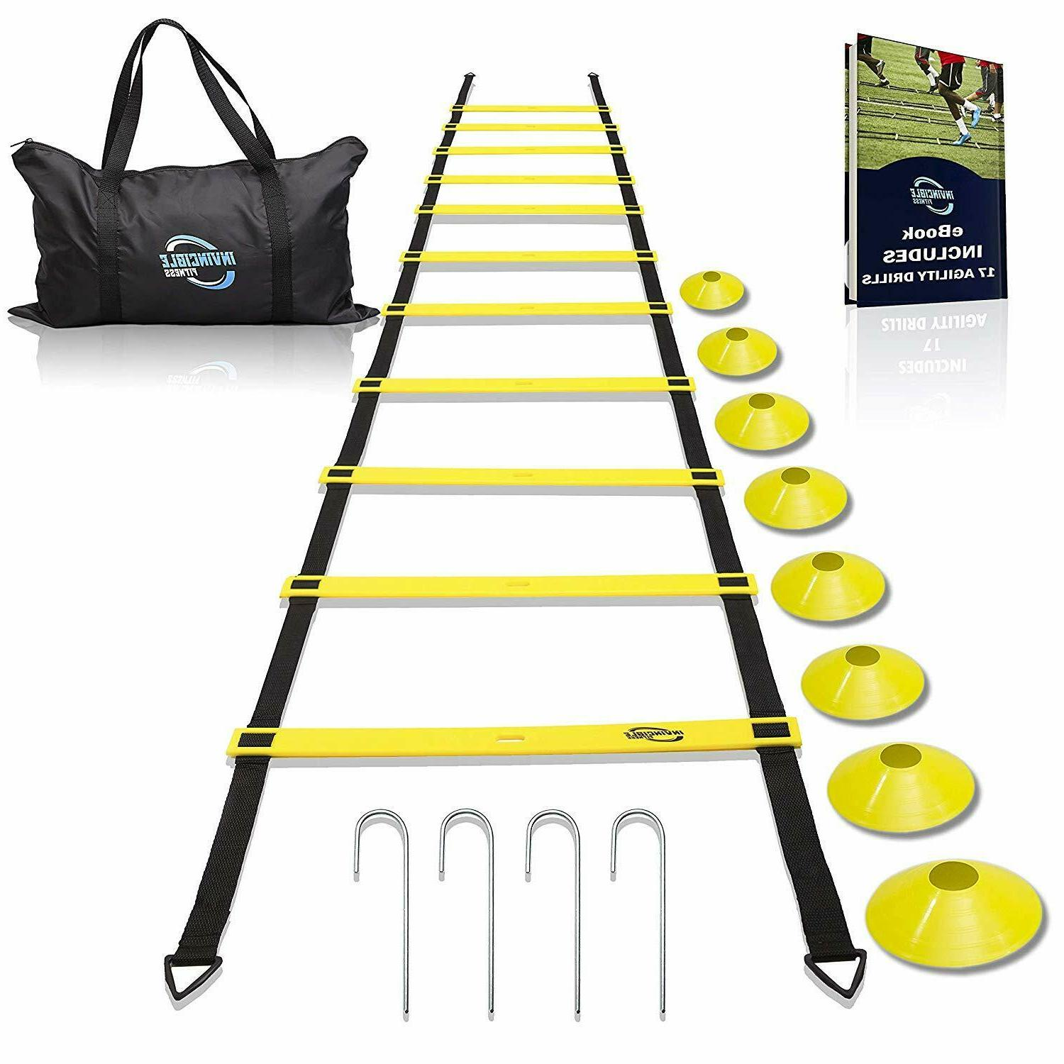 Agility Ladder Training Equipment Football Cones