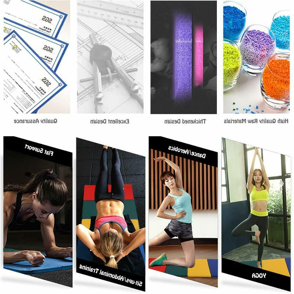 """All 4'x8'x2""""Thick Panel Gym Fitness Exercise Mat"""