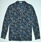Equipment Avery Pajama Style Silk Shirt in Paisley Print Siz
