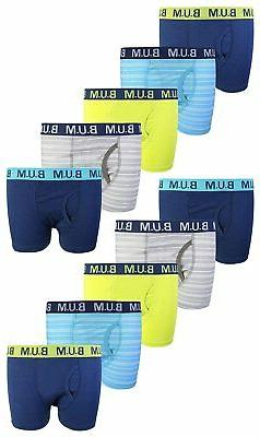 B.U.M. Equipment Boys Boxer Briefs 10-Pack 100% Cotton Under