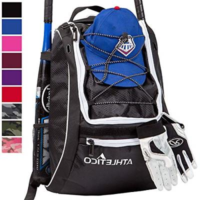Athletico Baseball Bat Bag Backpack For Baseball T Ball And